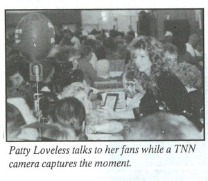 Coming full circle -- After getting Vince's autograph in 1985, Patty takes a turn at giving autographs in 1990.