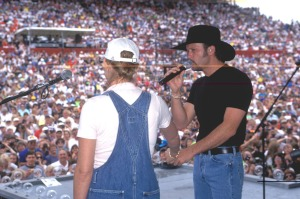 Tim and Faith being rediculously adorable at the 1997 Fan Fair.