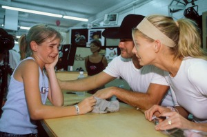 Tim and Faith sign autographs together during the 2000 Fan Fair.